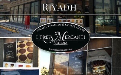 I TRE MERCANTI shop to open soon in Riyadh.
